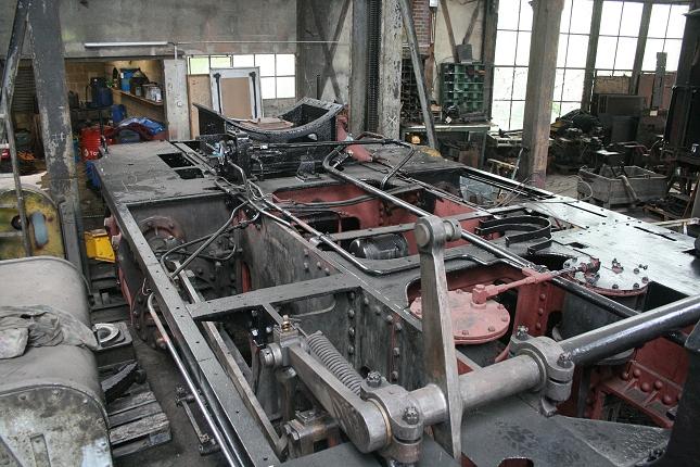 Le châssis de la locomotive à vapeur 140 C 231 (photo Ajecta / P.Berger)