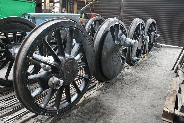 Les essieux de la 140 C 231 (photo Ajecta / P.Berger)