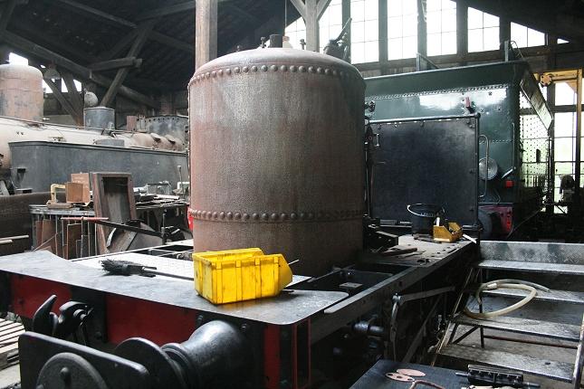 """La chaudière de la locomotive """"Suzanne"""" (photo Ajecta)"""