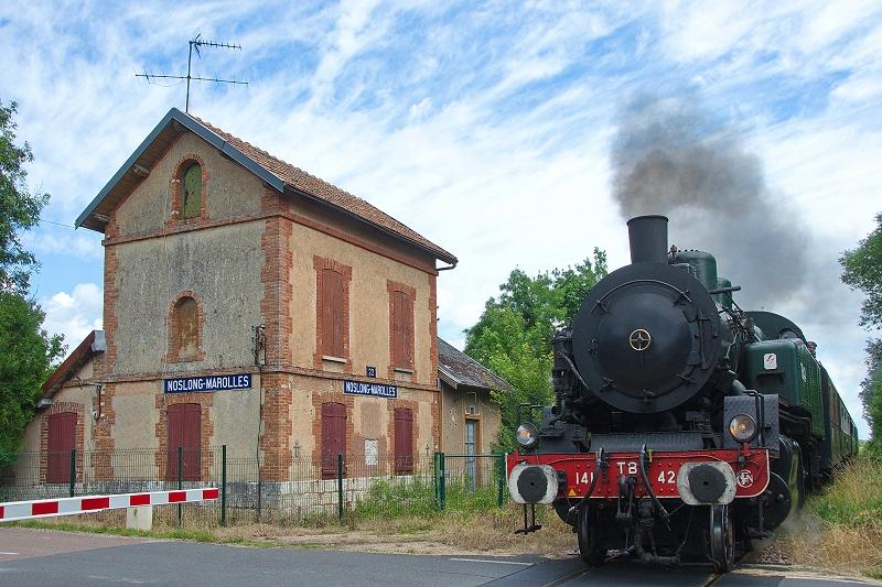 La halte de Noslong-Marolles, contemporaine de la compagnie du chemin de fer de Montereau à Troyes à la fin des années 1840 (photo C.Santiciolli)