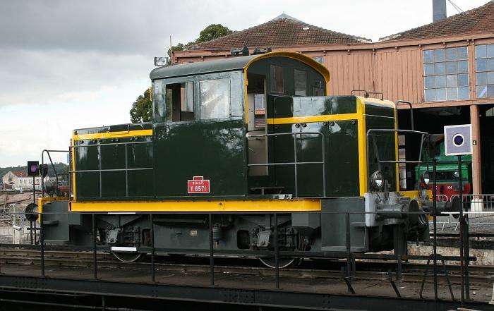 Le locotracteur Y 6571 restauré en état de marche par l'Ajecta